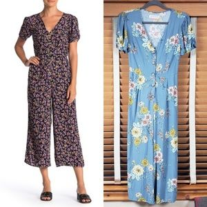 Band of Gypsies blue floral jumpsuit